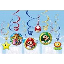 Mario Swirl Decorations