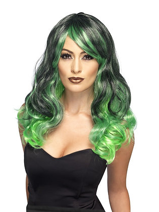 Green and Black Ombre Wig