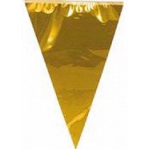 Giant Gold Metallic Bunting