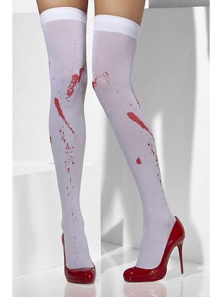 Adult White Blood Stained Hold Ups