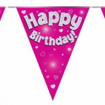 Pink Age Happy Birthday Bunting