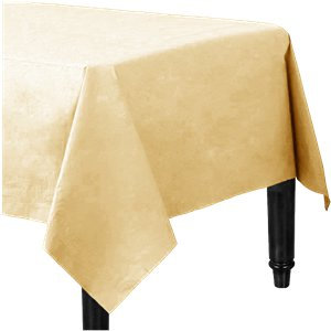Ivory Plastic-Lined Paper Tablecover