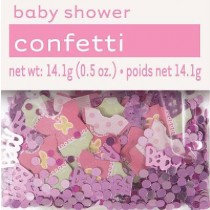 Pink Baby Shower Confetti
