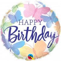 Birthday Beautiful Butterflies Birthday Std Foil Balloon
