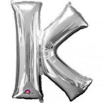 Super Shape Silver Letter K
