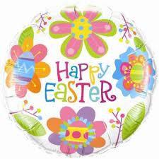 Easter Flowers Std Foil Balloon