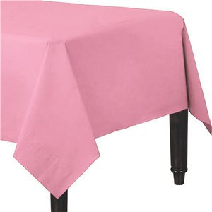 Pink Plastic-Lined Paper Tablecover