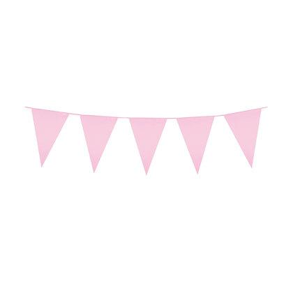 Pink Plastic Bunting