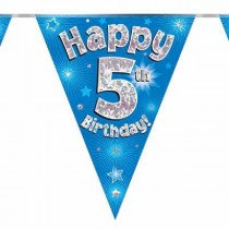 Blue Age 5 Bunting