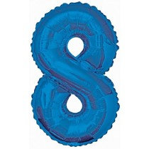 Blue Giant Number 8 Foil Balloon