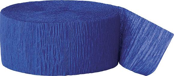 Royal Blue Paper Streamer