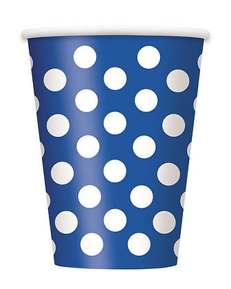 Royal Blue Dotty Cups
