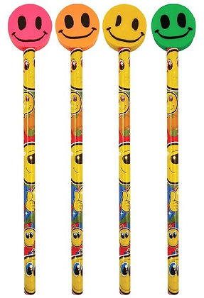 Smiley Pencils with Erasers
