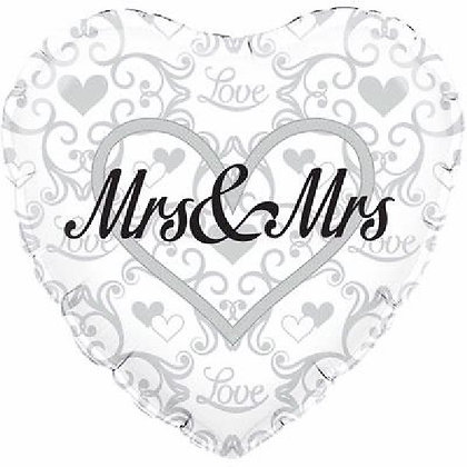 Mrs & Mrs Foil Balloon