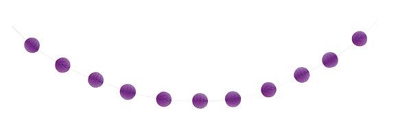 Purple 7ft Honeycomb Ball Garland