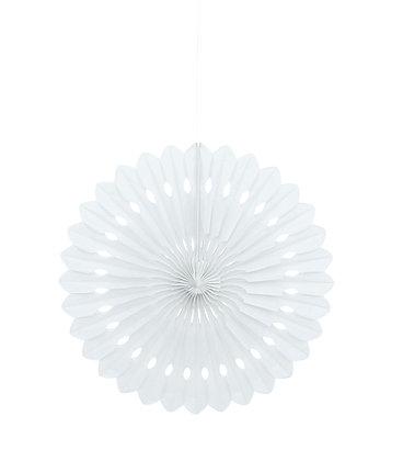 """White 16"""" Paper Fan"""
