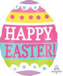 Happy Easter Egg Jnr Shape Foil Balloon