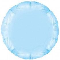 Light Blue Round Foil Balloon