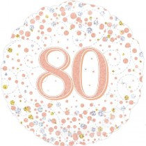 Rose Gold Age 80 Foil Balloon