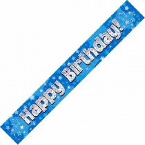 Blue Happy Birthday Banner