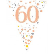 Rose Gold Age 60 Bunting