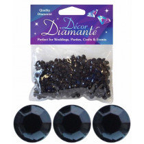 Black Diamante Confetti Small