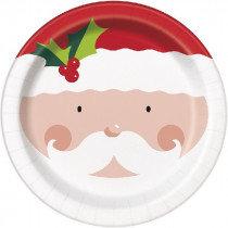Holly Santa Plates