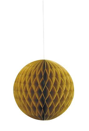 "Gold 8"" Paper Honeycomb Ball"