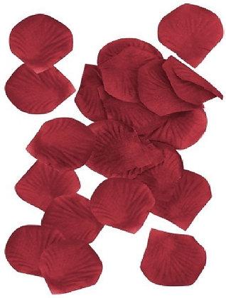 Burgandy Fabric Petals