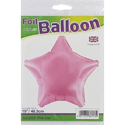 Pink Foil Star Balloon