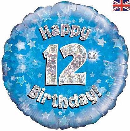 Blue Age 12 Foil Balloon