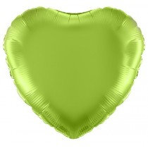 Lime Green Heart Foil Balloon