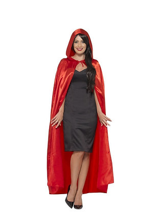 Red Satin Hooded Cape