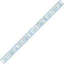 Blue Elephant Baby Shower Banner