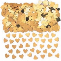 Gold Heart Confetti