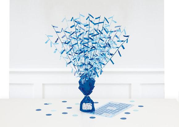 New Glitz Blue Balloon Weight Centrepiece