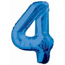 Blue Giant Number 4 Foil Balloon