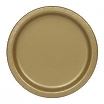 Gold 7 inch Paper Plates