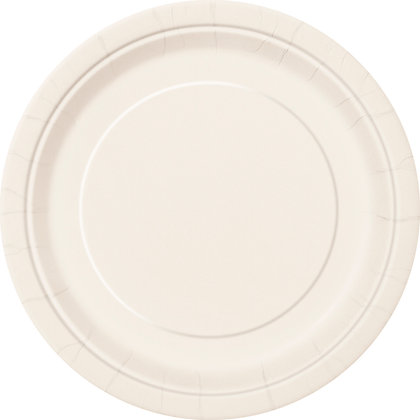"Ivory 9"" Paper Plates"