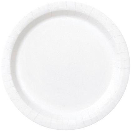 "White 9"" Paper Plates"