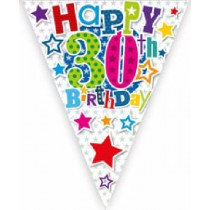 Happy 30th Birthday Bunting
