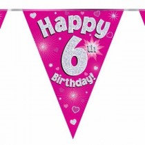 Pink Age 6 Bunting