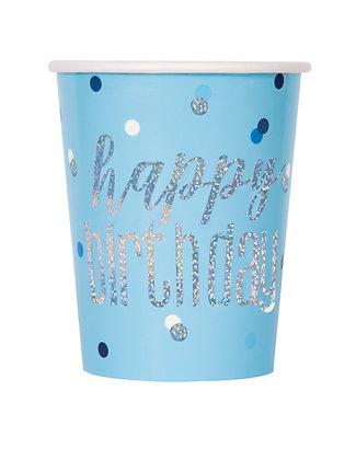 New Glitz Blue Cups