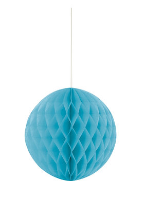 "Baby Blue 8"" Paper Honeycomb Ball"
