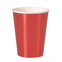 Red Metallic Cups