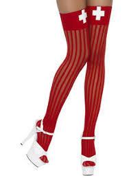 Adult Red Nurse Stockings