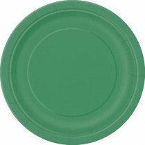 "Emerald Green 9"" Paper Plates"