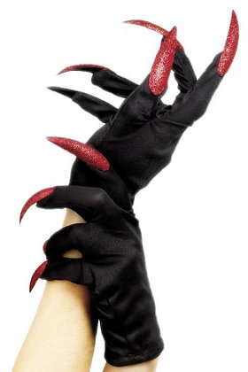 Adult Red Nail Gloves