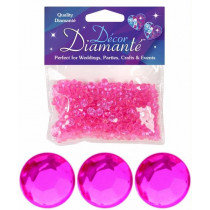 Magenta Diamante Confetti Small