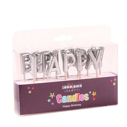 Silver Birthday Pick Candles